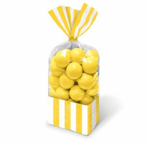 Candy Buffet Striped Party Bags Sun Yellow