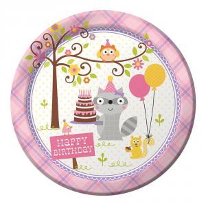 Happi Woodland Girl Dinner Plates 22 cm