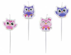 Owl Mini-Figurene Candles