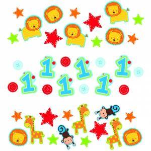 Wild at One Birthday Boy - 3 Pack Confetti