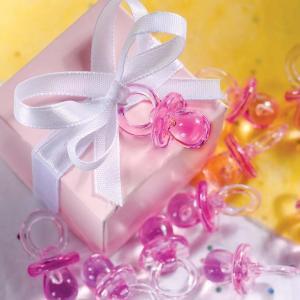 Pink Crystal Dummies - rosa mininappar
