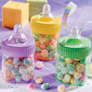 Multi Coloured Fillable Baby Bottles - mininappflaskor