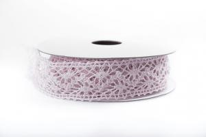 Old Pink Lace Ribbon 22 mm