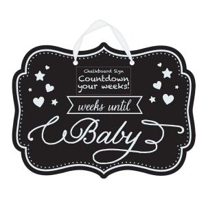 Baby Shower Countdown Chalkboard Sign