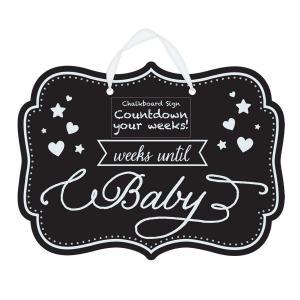 Baby Shower Countdown Chalkboard Sign