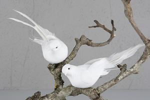 White Dove 17 cm - Feather Romance