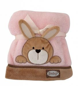 Baby Pink Bunny Blanket