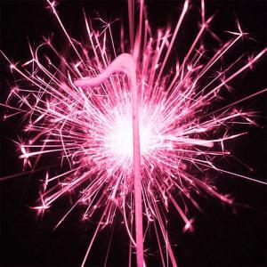Pink Numeral 1 Sparkler - rosa tomtebloss siffra 1 år