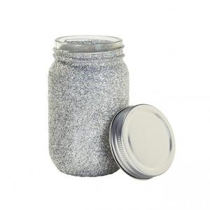 Be Happy Iridescent Glitter Jar
