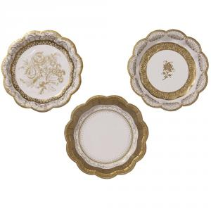 Party Porcelain Gold Plates Small
