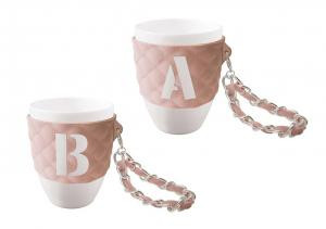 So Chic Kitchen Mug Peach - personlig frukostmugg
