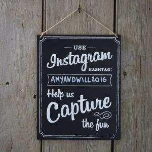 Large Wooden Instagram Sign - Vintage Affair