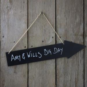 Wooden Chalkboard Arrows - Vintage Affair
