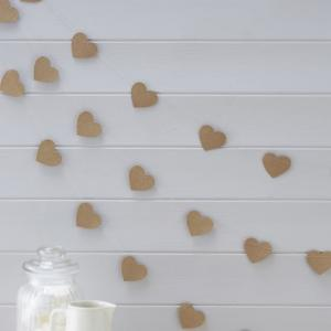 Heart Kraft Bunting - Vintage Affair