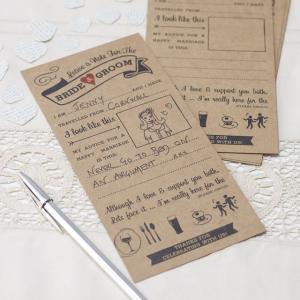 Advice For The Bride & Groom Cards - Vintage Affair