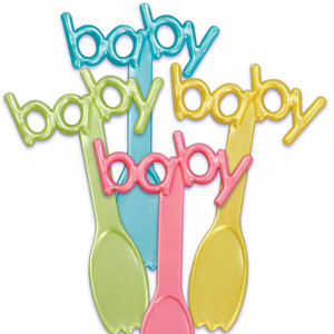 Catering Supplies Baby Spoon Plastic Picks