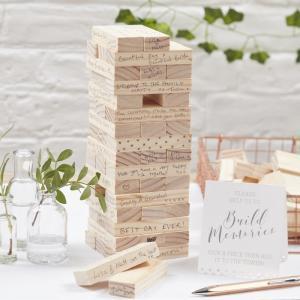 Build A Memory Building Blocks Guest Book - Beautiful Botanics