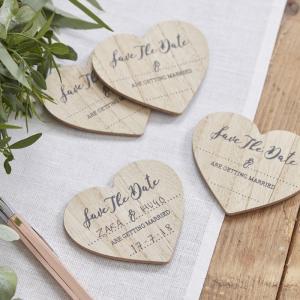Save The Date Wooden Magnets - Beautiful Botanics