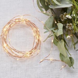 Rose Gold LED String Table Lights - Beautiful Botanics