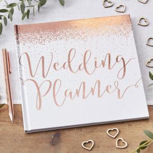 Rose Gold Foiled Wedding Planner - Beautiful Botanics