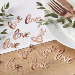 Rose Gold Foiled Love Confetti - Beautiful Botanics