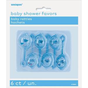 Blue Baby Rattles - blåa babyskallror