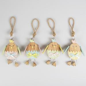 Mr Egg Pastel Easter Wooden Hanging Decoration