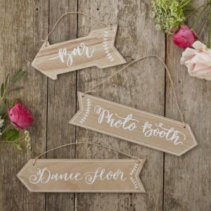 Wooden Arrow Signs - Boho