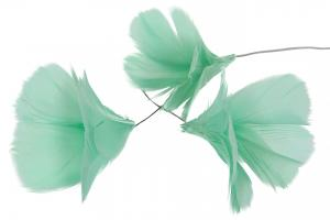 Light Turquoise Flower 12 st - Feather Romance