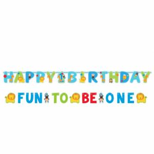 Wild at One Birthday Boy - Jumbo Letter Banner Kit