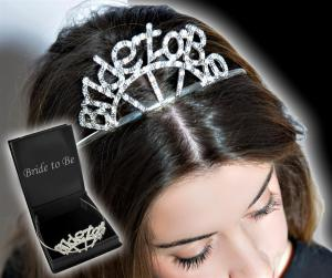 Diamond Bride To Be Tiara - diamanttiara i box