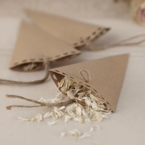 Brown Kraft Confetti Cones - Vintage Affair