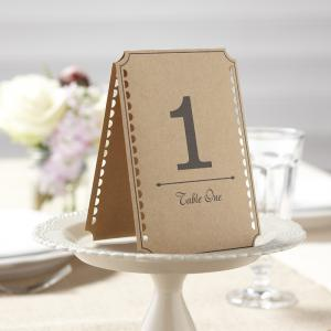 Brown Kraft Table Numbers 1-12 - Vintage Affair