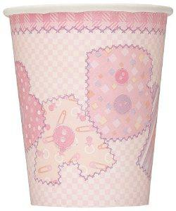 Paper Cups - Baby Stitching Pink