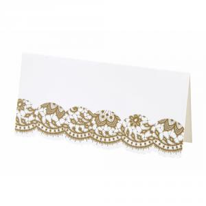 Party Porcelain Gold Placecard