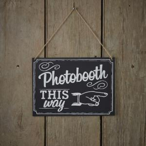 Photo Booth Chalkboard Wooden Sign - Vintage Affair