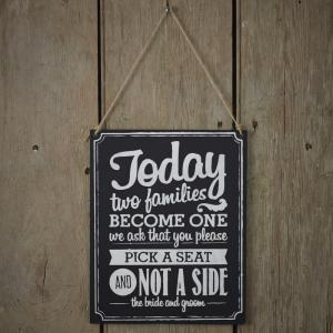 'Two Sides' Chalkboard Wooden Sign - Vintage Affair