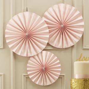 Circle Fan Pinwheel Decorations Pastel Pink - Pastel Perfection