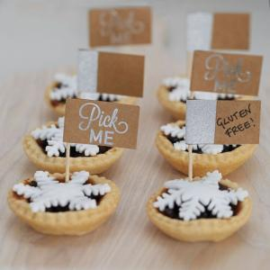 Festive Silver Foiled Mince Pie Sticks - Christmas Metallics