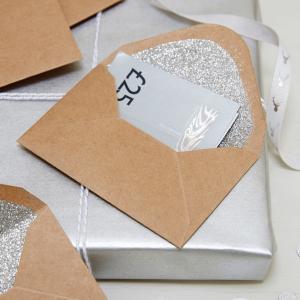 Festive Gift Card & Money Envelope - Christmas Metallics