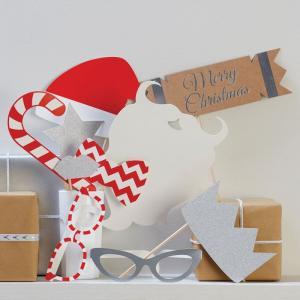 Festive Photo Booth Props - Christmas Metallics
