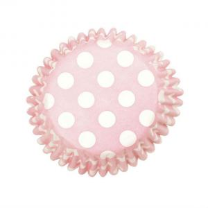Pink Spot Cake Cases