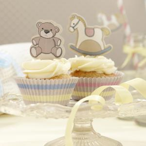 Cupcake Cases & Toppers Kit - Rock-a-bye Baby