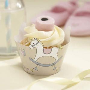 Cupcake Decoration Wraps - Rock-a-bye Baby