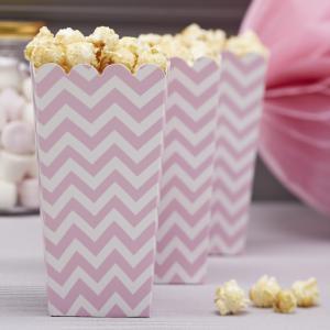 Popcorn Boxes - Pink - Chevron Divine