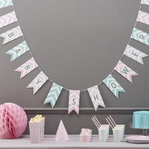 Baby Shower Bunting - Chevron Divine