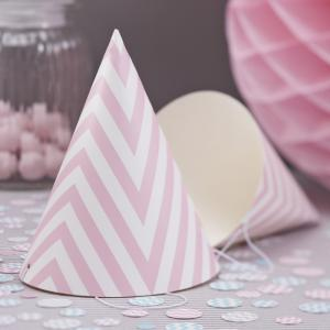 Party Hats - Pink - Chevron Divine