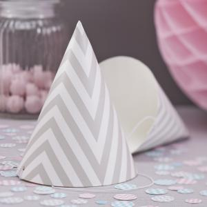 Party Hats Grey - Chevron Divine