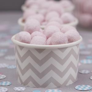Ice Cream/Treat Tubs Grey - Chevron Divine