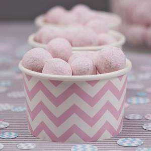 Ice Cream/Treat Tubs Pink - Chevron Divine